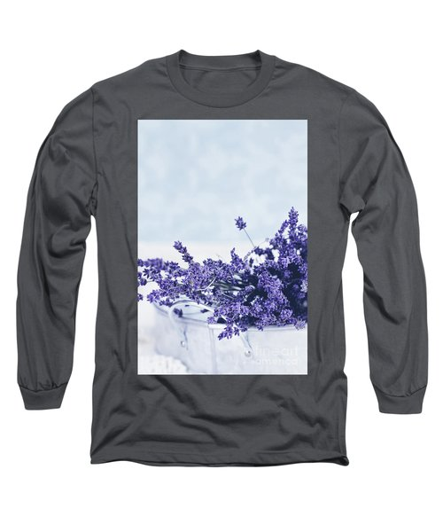 Long Sleeve T-Shirt featuring the photograph Collection Of Lavender  by Stephanie Frey