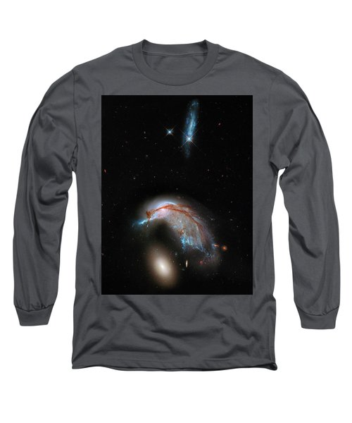 Long Sleeve T-Shirt featuring the photograph Colliding Galaxy by Marco Oliveira