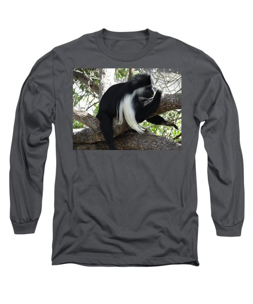 Colobus Monkey Resting In A Tree Long Sleeve T-Shirt