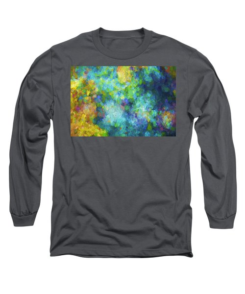 Color Abstraction Xliv Long Sleeve T-Shirt by David Gordon