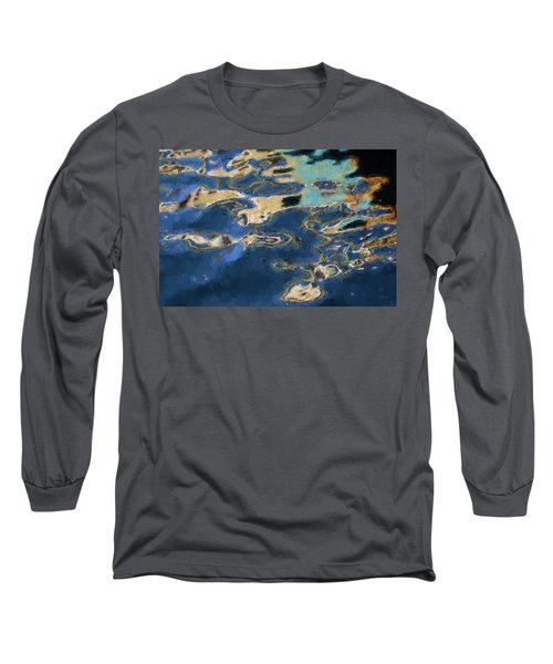Color Abstraction Xxxvii - Painterly Long Sleeve T-Shirt