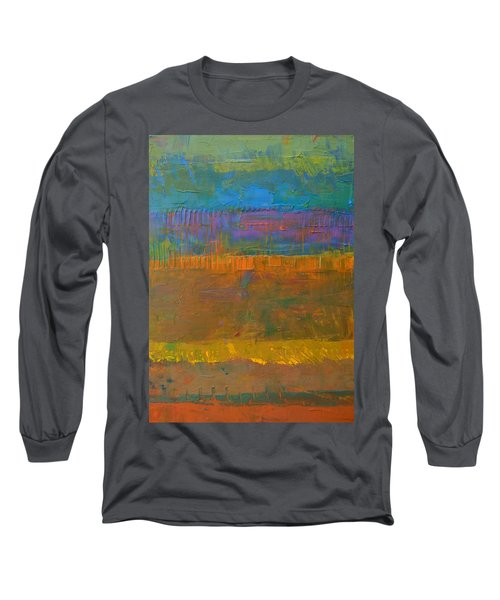 Color Collage One Long Sleeve T-Shirt by Michelle Calkins