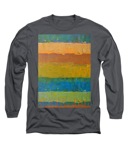 Color Collage Three Long Sleeve T-Shirt by Michelle Calkins