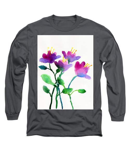 Color Flowers Long Sleeve T-Shirt