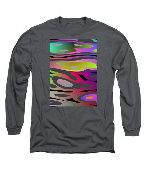 Long Sleeve T-Shirt featuring the digital art Color Fun 1 by Jeff Iverson