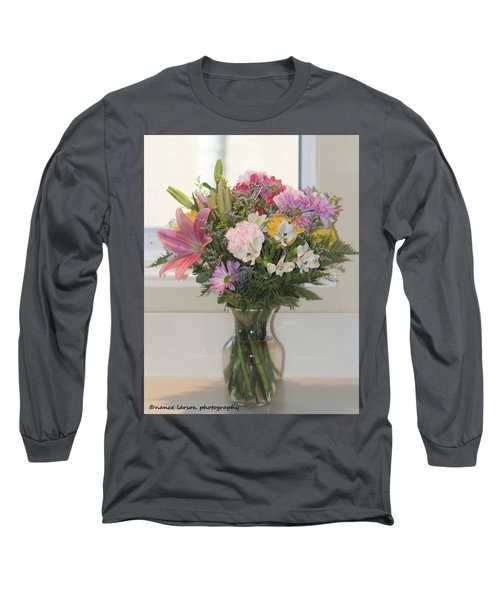 Color Me Happy Long Sleeve T-Shirt by Nance Larson