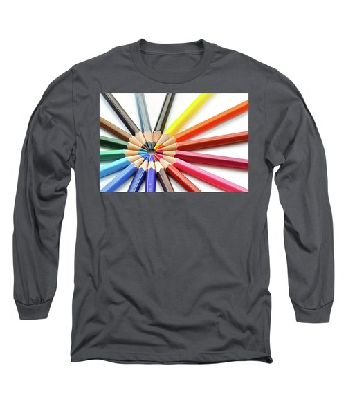 Color Pencils Long Sleeve T-Shirt