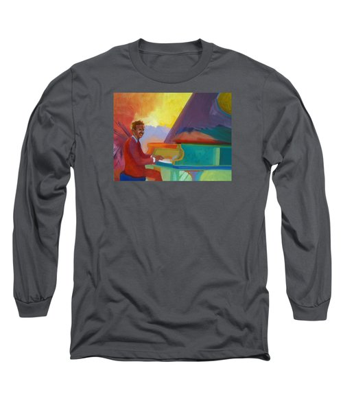Color Piano Justin Levitt Steinway Long Sleeve T-Shirt