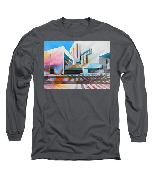 Long Sleeve T-Shirt featuring the painting Color Simphony by J- J- Espinoza