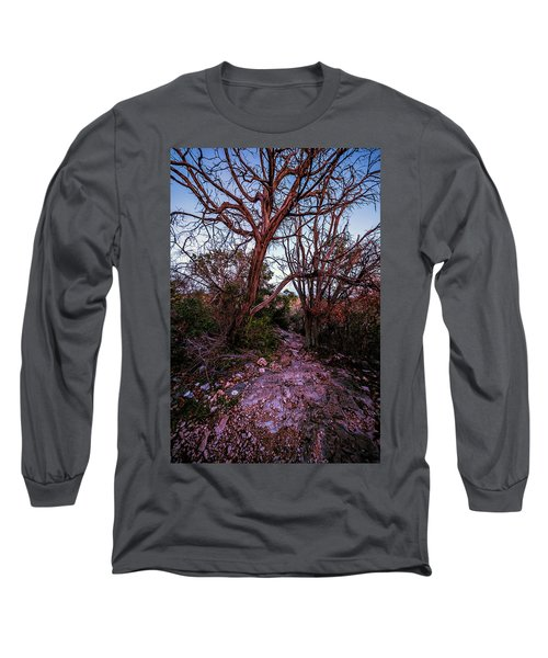 Colorado Bend State Park Gorman Falls Trail #3 Long Sleeve T-Shirt by Micah Goff