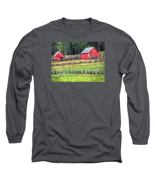 Colorado Countryside  Long Sleeve T-Shirt by Charlotte Schafer