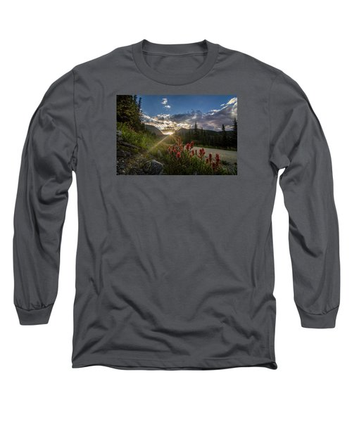 Colorado Wildflowers Under Evening Sun Long Sleeve T-Shirt