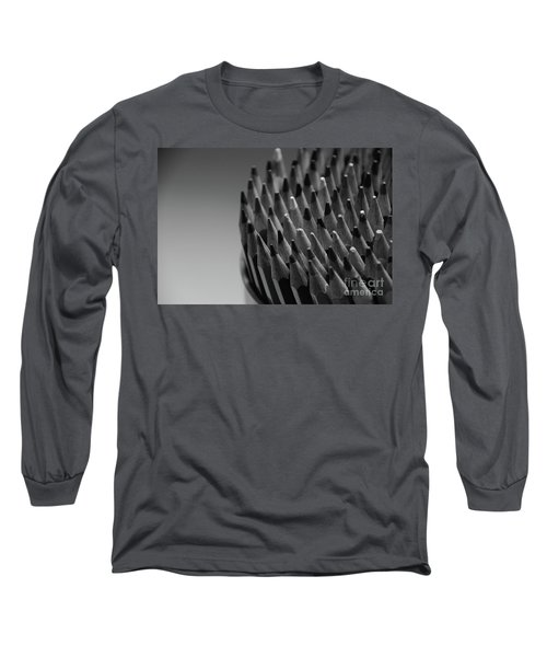 Colored Pencils - Black And White Long Sleeve T-Shirt