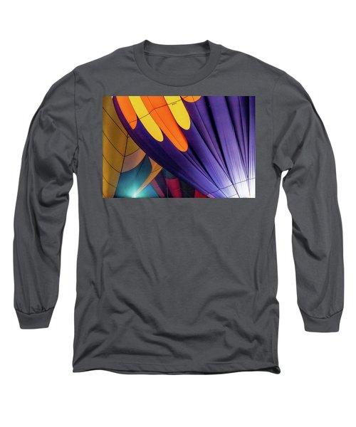 Colorful Abstract Hot Air Balloons Long Sleeve T-Shirt