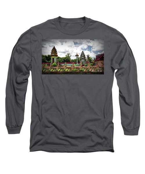 Colorful Architecture Siem Reap Cambodia  Long Sleeve T-Shirt