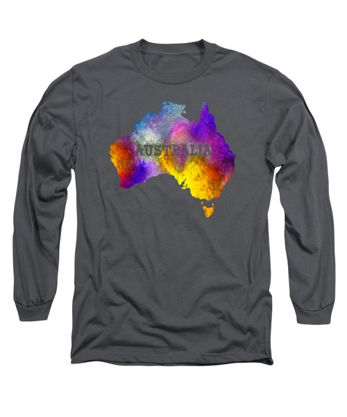 Colorful Australia Long Sleeve T-Shirt