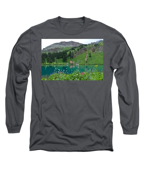 Colorful Blue Lakes Landscape Long Sleeve T-Shirt