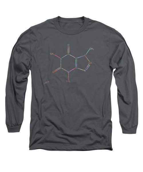Colorful Caffeine Molecular Structure Long Sleeve T-Shirt