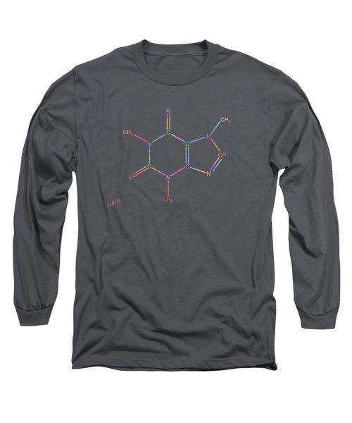 Colorful Caffeine Molecular Structure Long Sleeve T-Shirt
