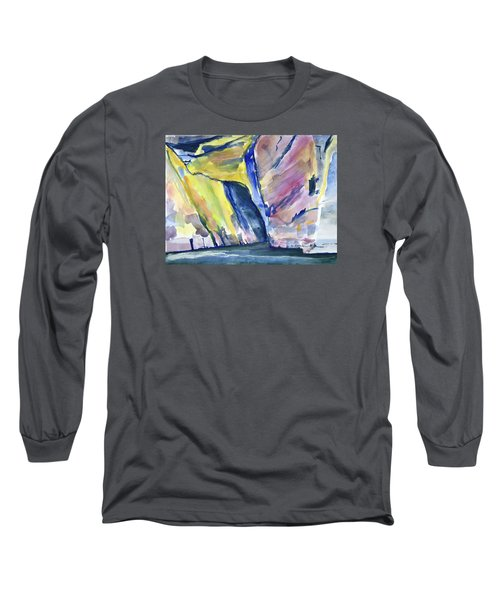 Colorful Cliffs And Cave Long Sleeve T-Shirt