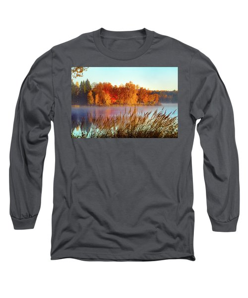 Colorful Dawn On Haley Pond Long Sleeve T-Shirt