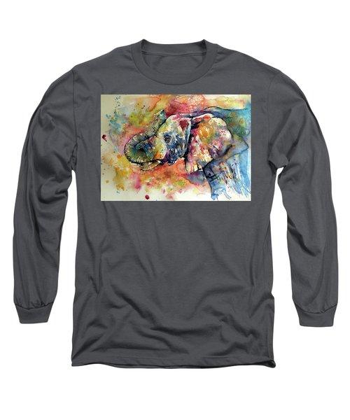 Colorful Elephant II Long Sleeve T-Shirt