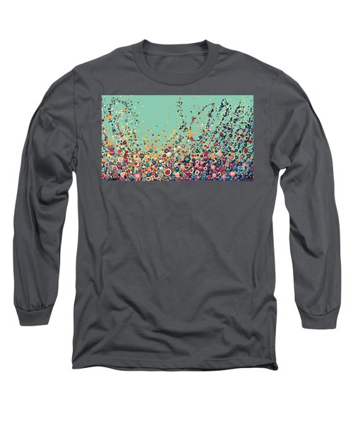 Long Sleeve T-Shirt featuring the painting Colorful Flowers by Maja Sokolowska