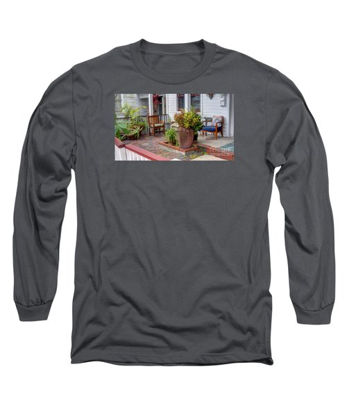 Colorful Front Porch Patio Long Sleeve T-Shirt