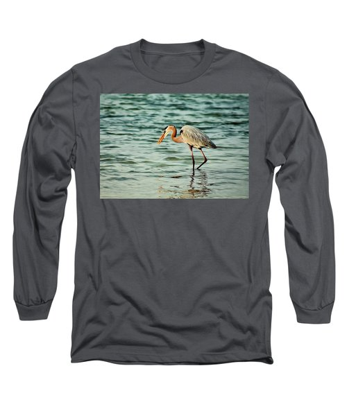 Colorful Heron Long Sleeve T-Shirt