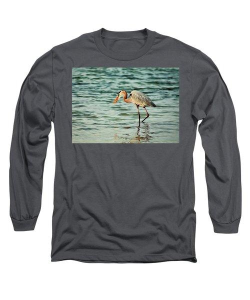 Colorful Heron Long Sleeve T-Shirt