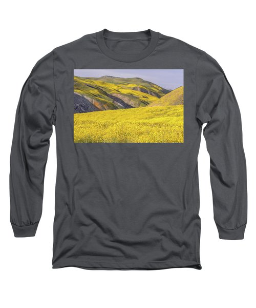 Long Sleeve T-Shirt featuring the photograph Colorful Hill And Golden Field by Marc Crumpler