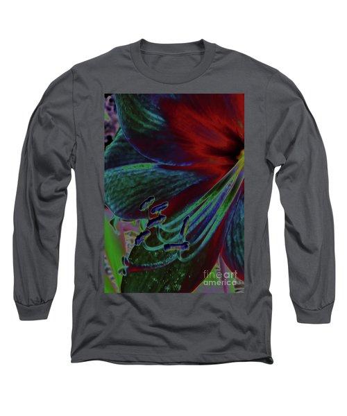 Colorful Neon Amaryllis Long Sleeve T-Shirt