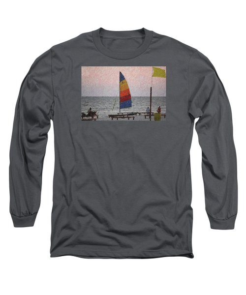 Long Sleeve T-Shirt featuring the photograph Colorful Sails by Donna G  Smith