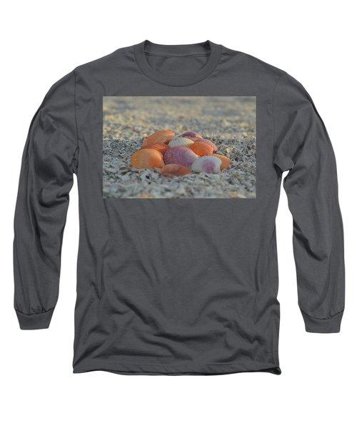 Colorful Scallop Shells Long Sleeve T-Shirt