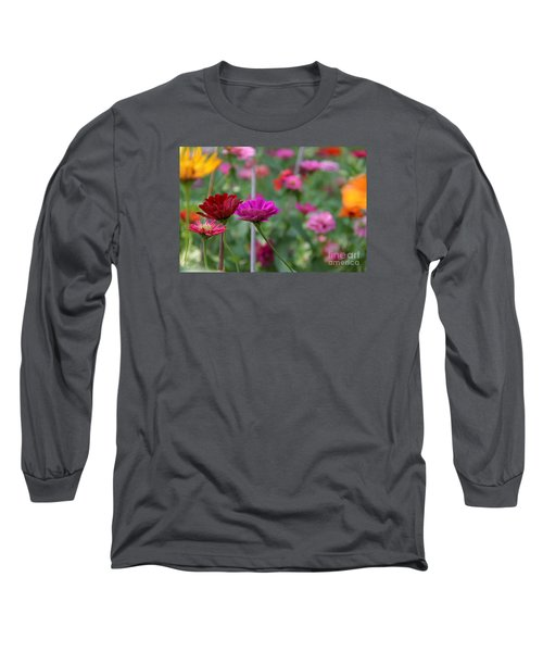 Colorful Summer Long Sleeve T-Shirt by Yumi Johnson