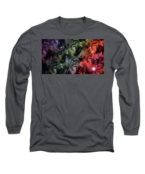 Colorful Swirls Long Sleeve T-Shirt by Carol Crisafi