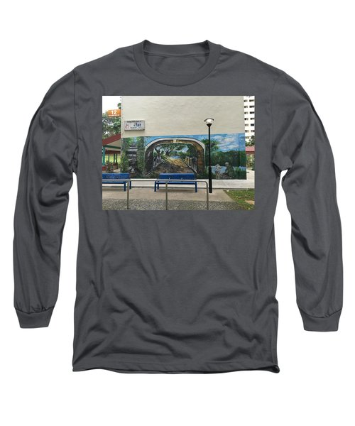 Coloring Holland V Wall 1 - Memories Long Sleeve T-Shirt by Belinda Low