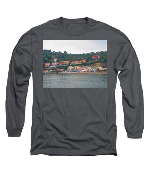 Colors Along The Coast Long Sleeve T-Shirt by Christin Brodie
