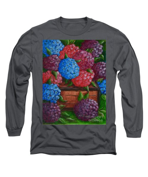 Long Sleeve T-Shirt featuring the painting Colors by Melvin Turner
