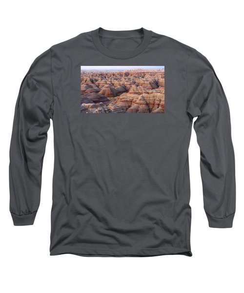 Colors Of The Badlands Long Sleeve T-Shirt by Monte Stevens
