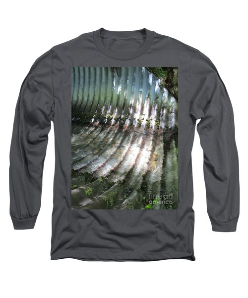 Long Sleeve T-Shirt featuring the photograph Colors Of The Culvert by Marie Neder