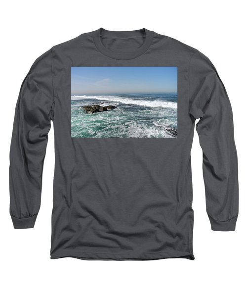 Long Sleeve T-Shirt featuring the photograph Colors Of The Sea by Carol  Bradley