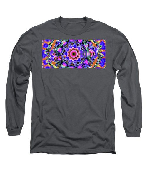 Long Sleeve T-Shirt featuring the digital art Colors O're Laid by Ron Bissett
