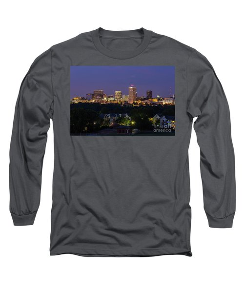Columbia Skyline At Twilight Long Sleeve T-Shirt