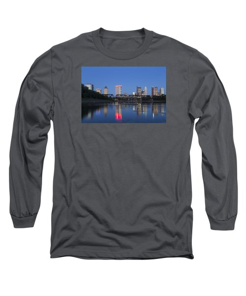 Columbus Evening Sky Long Sleeve T-Shirt by Alan Raasch