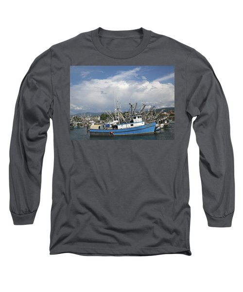 Commerical Fishing Boats Long Sleeve T-Shirt by Elvira Butler