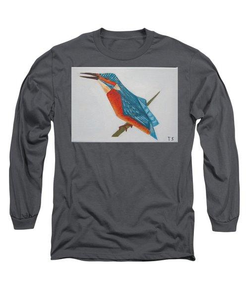 Common Kingfisher Long Sleeve T-Shirt by Tamara Savchenko