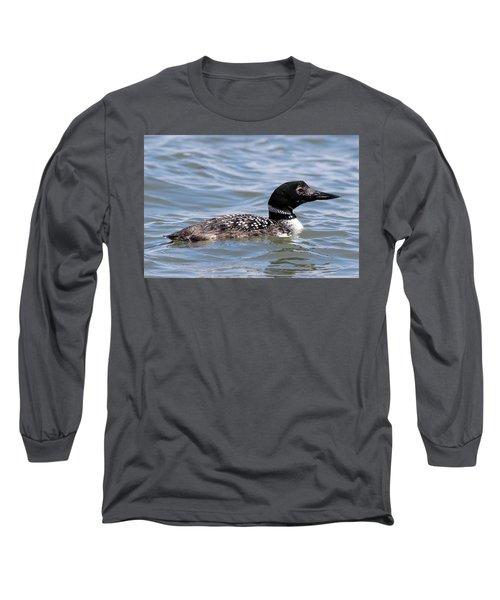 Common Loon Port Jefferson New York Long Sleeve T-Shirt