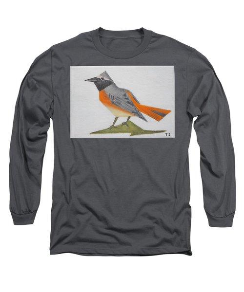 Common Redstart Long Sleeve T-Shirt by Tamara Savchenko