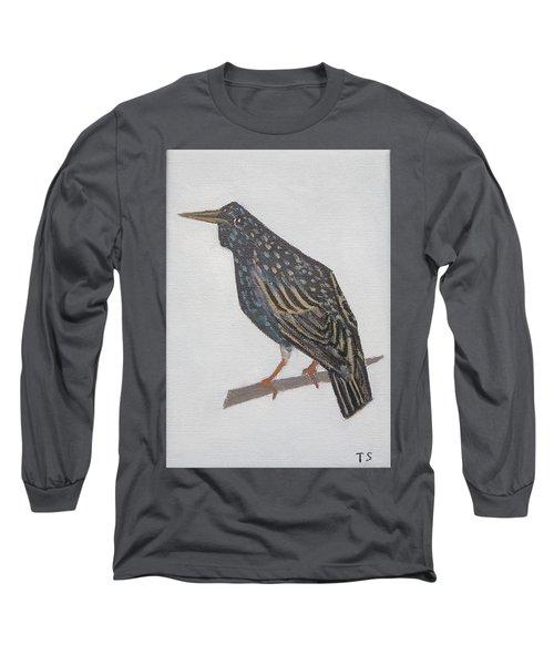 Common Starling Long Sleeve T-Shirt by Tamara Savchenko